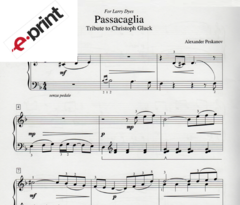 Passacaglia (Tribute to Gluck) e-Print