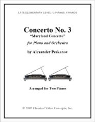 Piano Concerto No. 3 (Arranged for 2 Pianos)