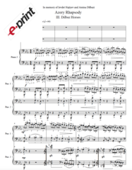 Azery Rhapsody - III. Dilbaz Horses (Arranged for 2 Pianos) e-Print