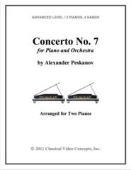 Piano Concerto No. 7  (Arranged for 2 Pianos)