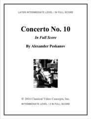 Piano Concerto No. 10 (Orch. Score & Parts)