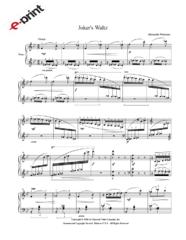 Joker's Waltz (e-Print)