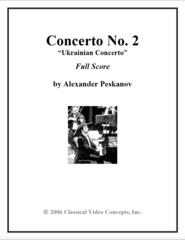 Piano Concerto No. 2 (Orch. Score & Parts)