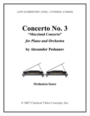Piano Concerto No. 3 (Orch. Score & Parts)
