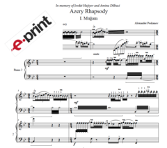 Azery Rhapsody - I. Muğam (Arranged for 2 Pianos) e-Print