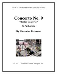 Piano Concerto No. 9 (Orch. Score & Parts)