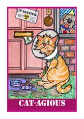 Greeting Card - Let Me In Now! Meow!