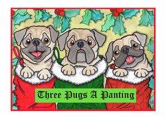 Greeting Card - Snug As A Pug.