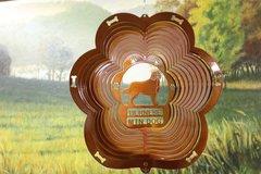 "12"" Bernese Mountain Dog Dog Breed Wind Spinner - Coper"
