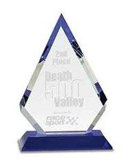 Diamond Crystal Award with Blue Base
