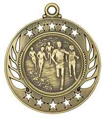 "2 1/4"" Galaxy Medal with Neck Ribbon"