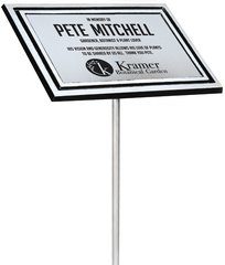 Cast Aluminum Outdoor Plaque Silver with Yard Stake