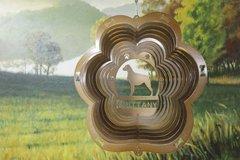 "12"" Brittany Dog Breed Wind Spinner - Copper Starlight"