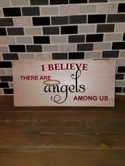 I believe there are angels wood sign