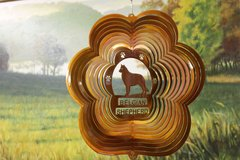 "12"" Belgian Shepherd Dog Breed Wind Spinner -Copper"