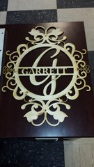 Custom Monogrammed wood cutout sign