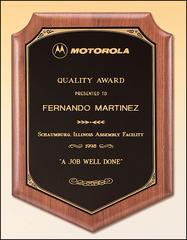 Walnut Plaque with Black Brass Plate