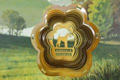 """12"""" Airedale Terrier Dog Breed Wind Spinner -Copper"""