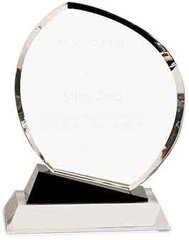 Crystal  Award with Black Accent