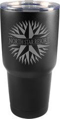 30 oz. Matte Black Vacuum Insulated Tumbler with Clear Lid
