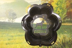"12"" Boxer Dog Breed Wind Spinner - Black Starlight"