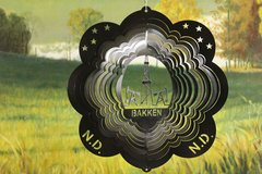"12"" Bakken Wind Spinner - Black Starlight"