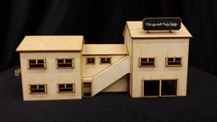 Model O Scale Factory Store Building unfinished kit wood train railroad
