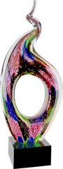 Twist Top Multi Colored Art Glass with Black Base