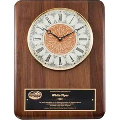 Genuine walnut clock plaque with vintage series clock face