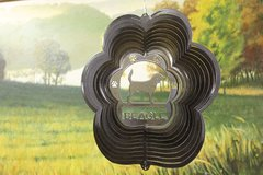 "12"" Beagle Dog Breed Wind Spinner - Black Starlight"