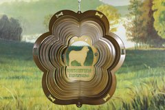 "12"" Australian Dog Breed Wind Spinner - Copper Starlight"