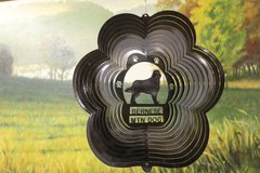 "12"" Bernese Mountain Dog Dog Breed Wind Spinner - Black Starlight"