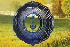 "12"" Anchor Wind Spinner - Blue Starlight"