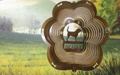 "12"" Beagle Dog Breed Wind Spinner -Copper Starlight"