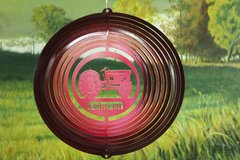 """12"""" Blue Tractor 8N Wind Spinner - Red Starlight"""