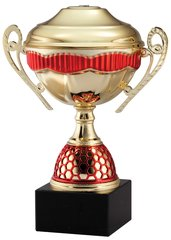 Budget Red and Gold Metal Trophy Cup