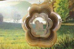 "12"" Bichon Frise Dog Breed Wind Spinner - Copper Starlight"