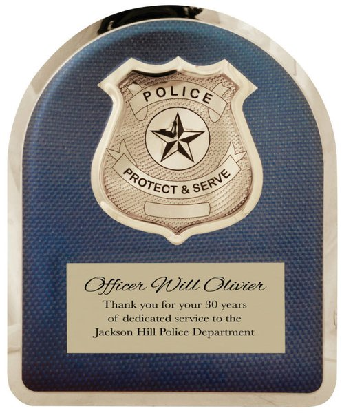 "10 1/2"" x 13"" Police Officer Hero Plaque"