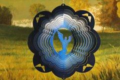 """12"""" Angel Wind Spinner -Blue Starlight"""
