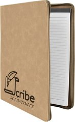 9 x 12 1/2 Leatherette Zippered Portfolio with Notepad