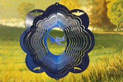 "12"" Airplane Wind Spinner - Blue Starlight"