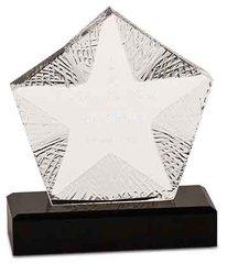 Crystal Star Award with Black Base