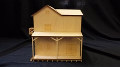 Model O Scale Warehouse Feed Store Building unfinished kit wood train railroad