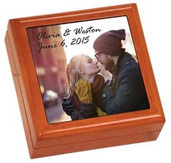 Wood Gift Box with Photo insert