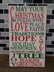 Christmas wood sign