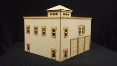 O Scale 3 Bay Fire Engine House Kit Model Railroad Train Building On30 Scale