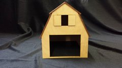 Model O Scale Barn Building unfinished kit wood train railroad
