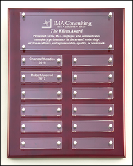 P5340 Rosewood High Gloss Perpetual Plaque