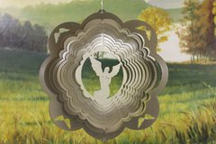 "12"" Angel Wind Spinner -Brass Starlight"
