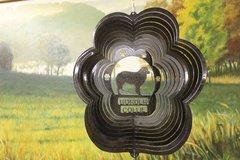 "12"" Border Collie Dog Breed Wind Spinner - Black Starlight"